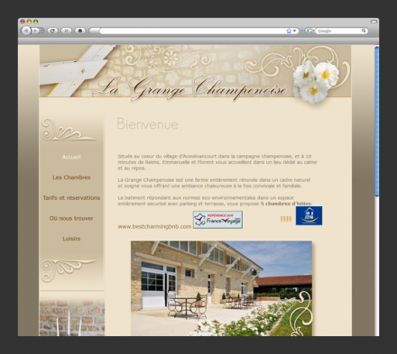 Site web La Grange champenoise