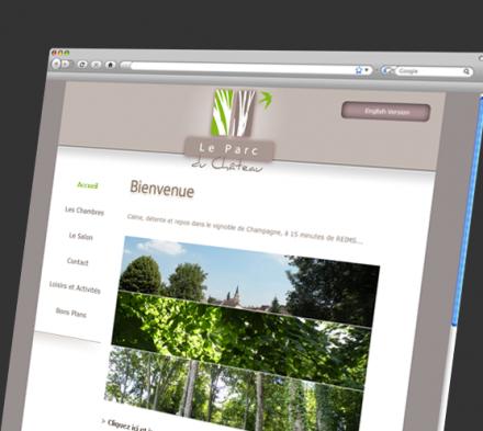 Site web le Parc du Château